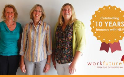 WorkFuture Ltd Celebrating 10 Years of Tenancy at NBV