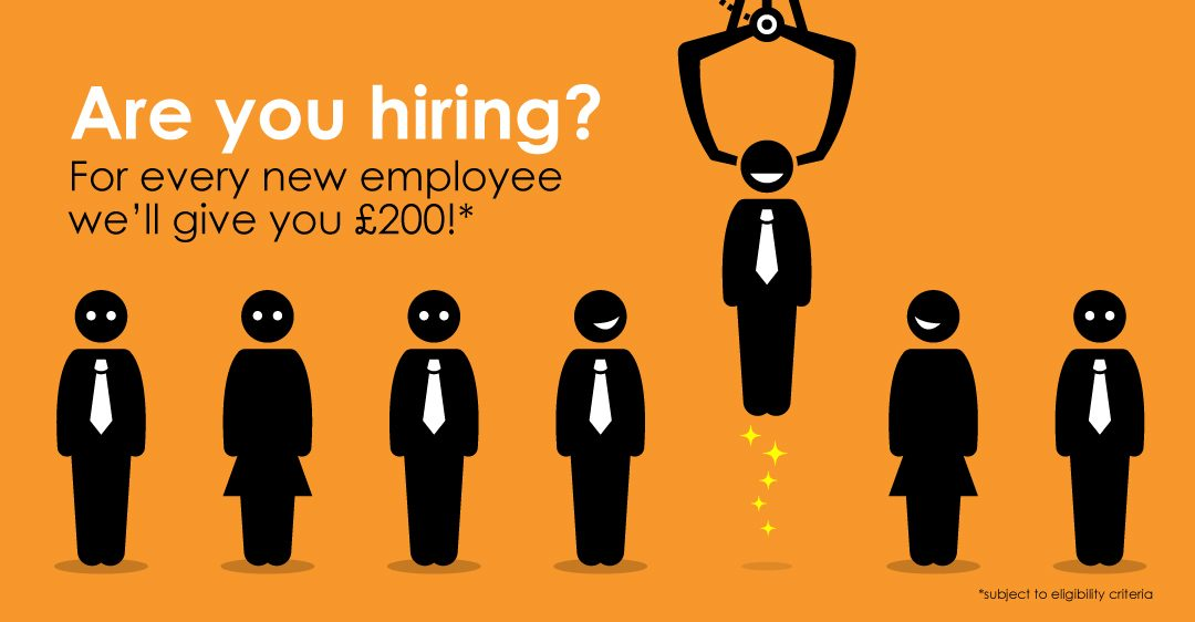 Are you hiring new staff for your business? Claim £200 per new employee before June 2017!