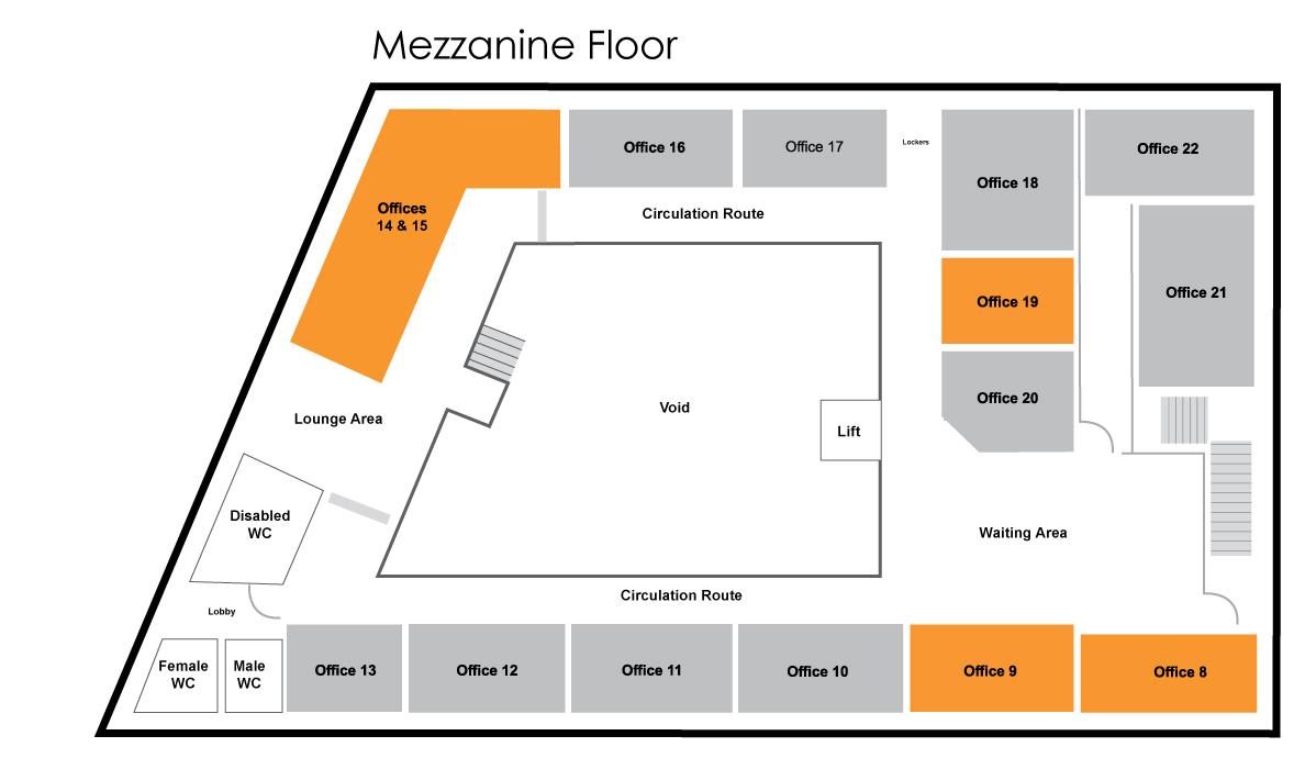 Mercury House Mezzanine Floor