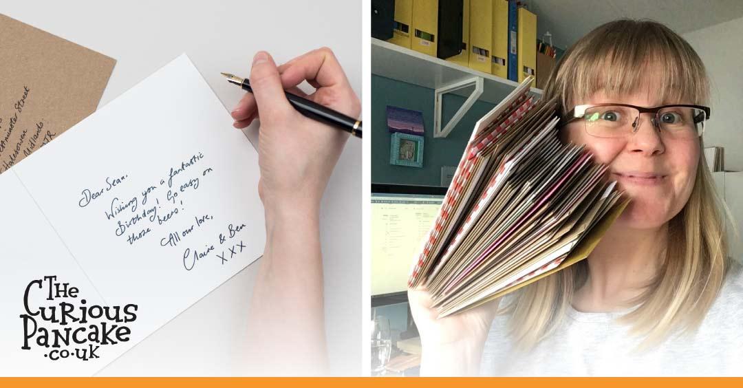 The Curious Pancake - handwriting greeting cards throughout lockdown